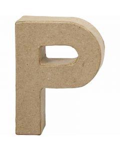 Kirjain, P, Kork. 10 cm, Lev: 7,7 cm, paksuus 1,7 cm, 1 kpl