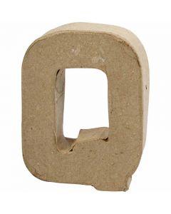 Kirjain, Q, Kork. 10 cm, Lev: 7,8 cm, paksuus 1,7 cm, 1 kpl