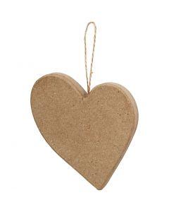 Hassu sydän, Kork. 10,5 cm, 1 kpl
