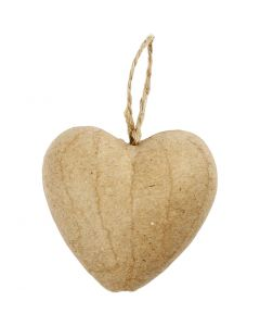 Sydän, Kork. 6,5 cm, 9 kpl/ 1 pkk
