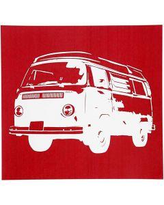 Painantasabloni, bussi, 20x22 cm, 1 ark