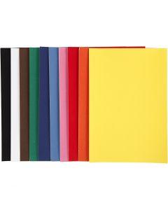 Veluuripaperi, A4, 210x297 mm, 140 g, värilajitelma, 10 ark/ 1 pkk