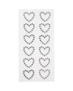 Akryylisydäntarrat, koko 23x21 mm, 12 kpl/ 1 pkk