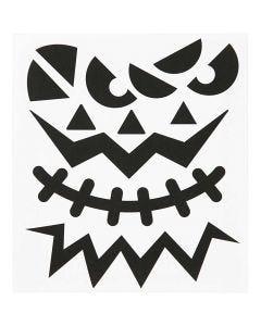 Tarrat, halloween - isot kasvot, 15x16,5 cm, 1 ark