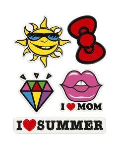 Pehmotarrat, I Love Mom, 12,2x17,75 cm, 1 ark