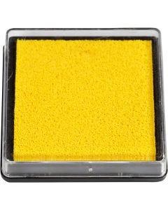 Leimasintyyny, koko 40x40 mm, keltainen, 1 kpl