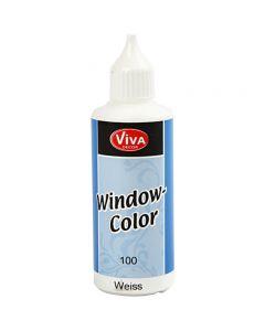 Ikkunaväri, valkoinen, 80 ml/ 1 pll