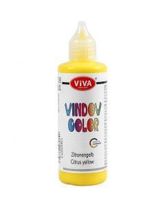 Ikkunaväri, keltainen, 90 ml/ 1 pll