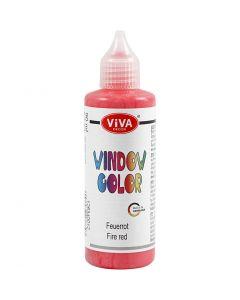 Ikkunaväri, punainen, 90 ml/ 1 pll