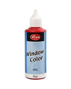 Ikkunaväri, punainen, 80 ml/ 1 pll