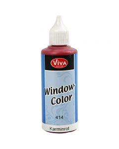 Ikkunaväri, karmiininpun., 80 ml/ 1 pll