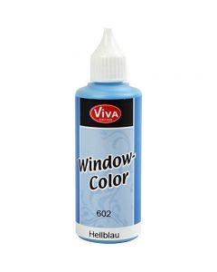 Ikkunaväri, vaaleansininen, 80 ml/ 1 pll