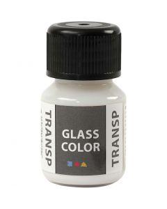 Glass Color Transparent lasimaali, valkoinen, 30 ml/ 1 pll