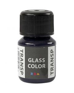 Glass Color Transparent lasimaali, laivastonsininen, 30 ml/ 1 pll