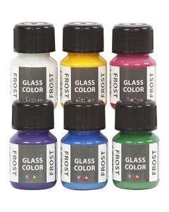 Glas Color Frost huurremaali, värilajitelma, 6x30 ml/ 1 pkk