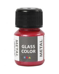 Glas Color Metal lasimaali, punainen, 30 ml/ 1 pll