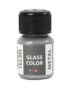 Glas Color Metal lasimaali, hopea, 30 ml/ 1 pll