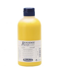Schmincke AKADEMIE® Akryylimaali, läpikuulto, cadmium yellow hue (223), 500 ml/ 1 pll