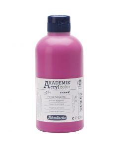 Schmincke AKADEMIE® Akryylimaali, läpikuulto, primary magenta (344), 500 ml/ 1 pll