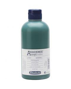 Schmincke AKADEMIE® Akryylimaali, kuulto, phthalo green (551), 500 ml/ 1 pll