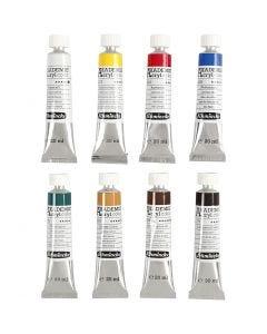 Schmincke AKADEMIE® -akryylimaali, 8x20 ml/ 1 pkk