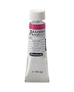 Schmincke AKADEMIE® Akryylimaali, neon pink (855), 60 ml/ 1 pll