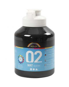 A-Color readymix-maali, matt, musta, 500 ml/ 1 pll