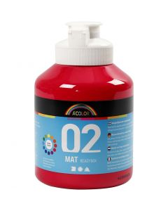 A-Color readymix-maali, matt, peruspunainen, 500 ml/ 1 pll