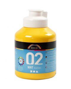 A-Color readymix-maali, matt, keltainen, 500 ml/ 1 pll