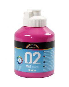 A-Color readymix-maali, matt, pinkki, 500 ml/ 1 pll