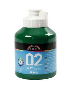 A-Color readymix-maali, matt, tummanvihreä, 500 ml/ 1 pll