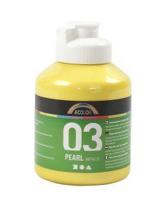 A-Color akryylimaali, metallinen, keltainen, 500 ml/ 1 pll