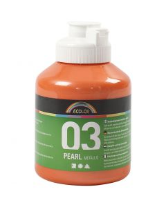 A-Color akryylimaali, metallinen, oranssi, 500 ml/ 1 pll