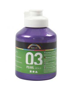 A-Color akryylimaali, metallinen, violet, 500 ml/ 1 pll