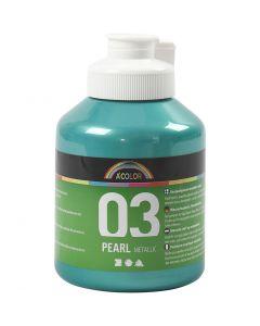 A-Color akryylimaali, metallinen, vihreä, 500 ml/ 1 pll