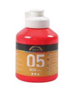 A-Color akryylimaali, neonpunainen, 500 ml/ 1 pll