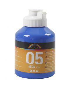 A-Color akryylimaali, neonsininen, 500 ml/ 1 pll