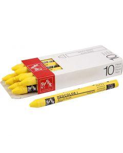 Neocolor 1, Pit. 10 cm, paksuus 8 mm, yellow (010), 10 kpl/ 1 pkk