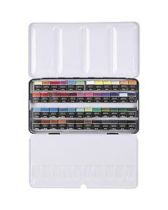 Vesivärilajitelma, ½-pan, koko 10x20 mm, värilajitelma, 48 väri/ 1 pkk