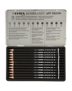 Art Design piirustuskynäsetti, vahvuus F, 12 kpl/ 1 pkk