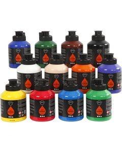 Pigment Art School, perusvärilajitelma, 12x500 ml/ 1 ltk