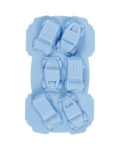 Silikonimuotti, Autot, aukon koko 30x45 mm, 12,5 ml, vaaleansininen, 1 kpl