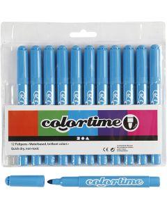 Colortime-tussit, paksuus 5 mm, vaaleansininen, 12 kpl/ 1 pkk