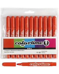 Colortime-tussit, paksuus 5 mm, tummanoranssi, 12 kpl/ 1 pkk