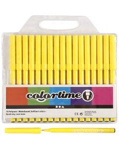Colortime-tussit, paksuus 2 mm, sitruunankelt, 18 kpl/ 1 pkk