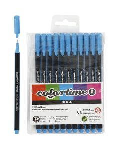 Colortime Fineliner, paksuus 0,6-0,7 mm, vaaleansininen, 12 kpl/ 1 pkk