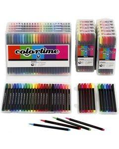 Colortime Fineliner, värilajitelma, 18 pkk/ 1 pkk