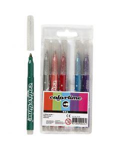 Colortime-kimalletussit, paksuus 4,2 mm, värilajitelma, 6 kpl/ 1 pkk