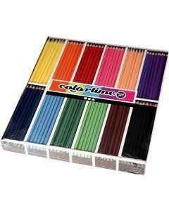 Colortime-värikynät, Pit. 17,45 cm, kärki 3 mm, värilajitelma, 12x12 kpl/ 1 pkk