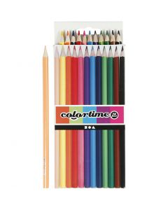 Colortime-värikynät, Pit. 17,45 cm, kärki 3 mm, värilajitelma, 12 kpl/ 1 pkk